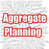 Aggregate Planning — Foto de Stock