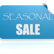 Seasonal sale blue sticker — Stock Photo