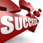Success arrow in red — Stock Photo
