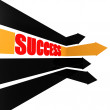 Success arrow with word — Stock Photo