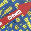 Growth arrow — Stock Photo