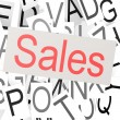 Sales word cloud — Stock Photo