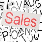 Nuvem de palavra vendas — Fotografia Stock