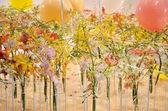 Flower decoration in Singapore garden festival — Stock Photo