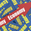 Economy arrow — Stock Photo