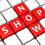 Shop now — Stock Photo