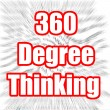 360 Degree Thinking — Stok Fotoğraf #36481559