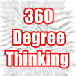 360 Degree Thinking — Stock Photo