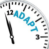 Adapt clock — Foto Stock