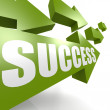 Stock Photo: Success arrow in green