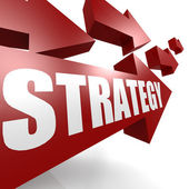 Strategy arrow in red — Stock Photo