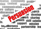 Persuasion word cloud — Stockfoto