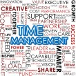 Time management word cloud — 图库照片