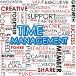 Foto Stock: Time management word cloud