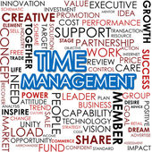 Time management word cloud — Stock Photo