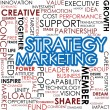 Strategy marketing word cloud — Stock Photo