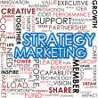 Stock Photo: Strategy marketing word cloud