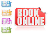 Book online label set — Stock Photo