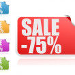Sale 75 percent label set — Stock Photo #37819073