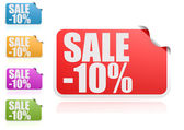 Sale 10 percent label set — Stock Photo