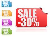 Sale 30 percent label set — Stock Photo
