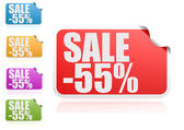 Sale 55 percent label set — Stock Photo