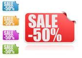 Sale 50 percent label set — Stock Photo
