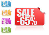 Sale 65 percent label set — Stock Photo