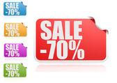 Sale 70 percent label set — Stock Photo