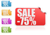 Sale 75 percent label set — Stock Photo