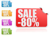 Sale 80 percent label set — Stock Photo