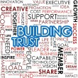 Building trust word cloud — Stock Photo #37850855