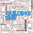 Stock Photo: Building trust word cloud