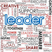 Leader word cloud — Stock Photo