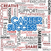 Career success word cloud — Photo