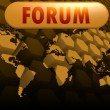 Forum world map — Stock Photo #37960253