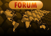 Forum world map — Stock Photo