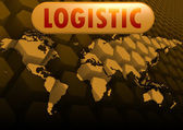 Logistic world map — Stock Photo
