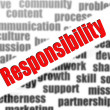 Responsibility word cloud — Stock Photo #38649215