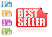 Best seller label set — Stock Photo