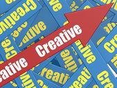 Creative arrow — Stock Photo