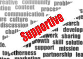 Supportive word cloud — Stock Photo
