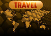 Travel world map — Stock Photo