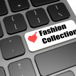 Love fashion collection keyboard — Stock Photo