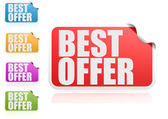 Best offer label set — Stock Photo