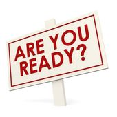 Are you ready banner — Stock Photo