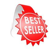 Best seller star label — Stock Photo