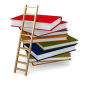 Book ladder — Stock Photo