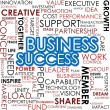 Business success word cloud — Stock Photo