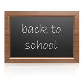 Blank blackboard- back to school — Stock Photo